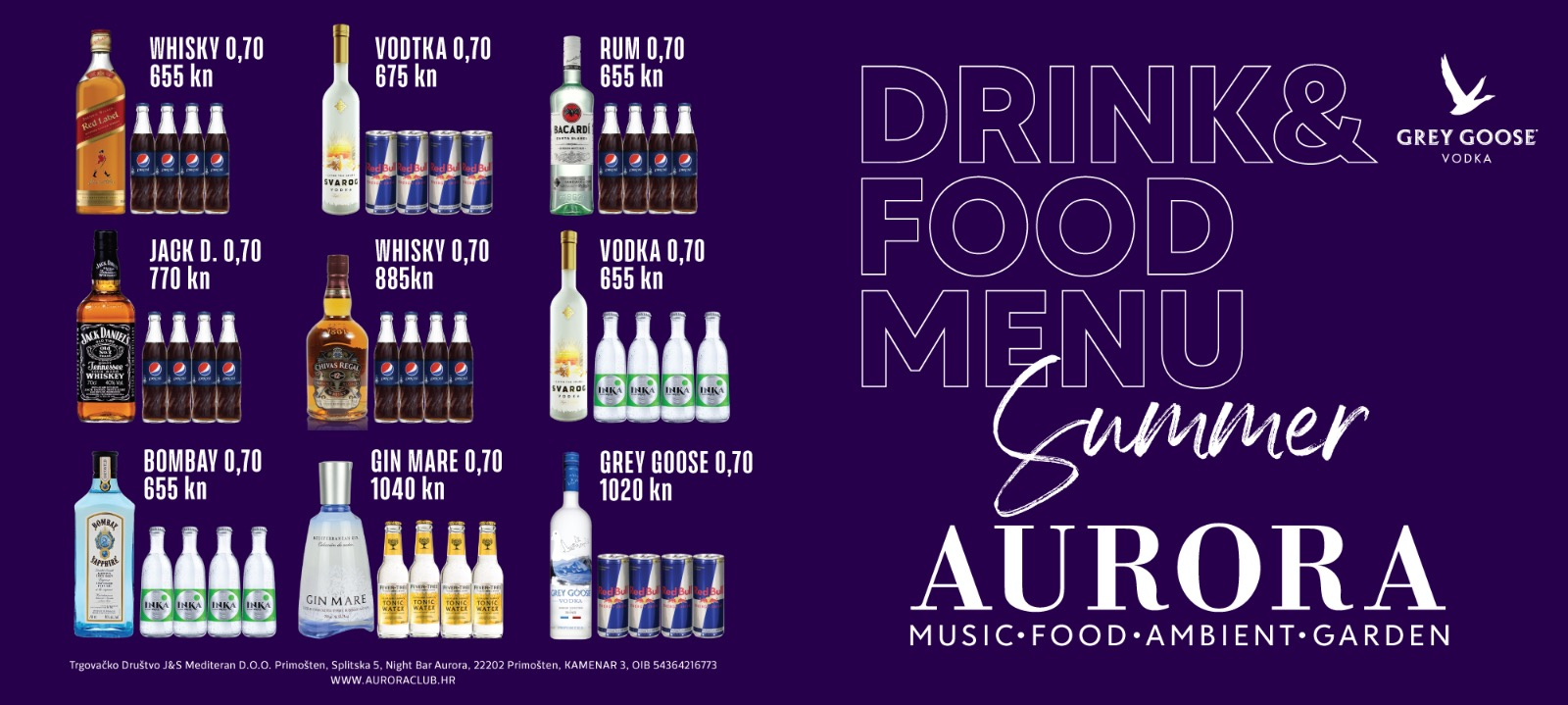 Drink & Food Menu